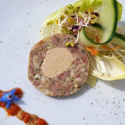 Paté confit & foie de pato con mostaza de datiles